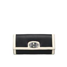 Best design long women wallet in black and white