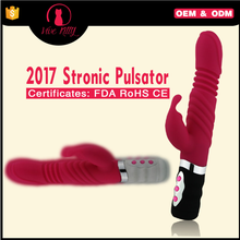 New sex toy stronic heating thrust pulsator dildo vibrator for women
