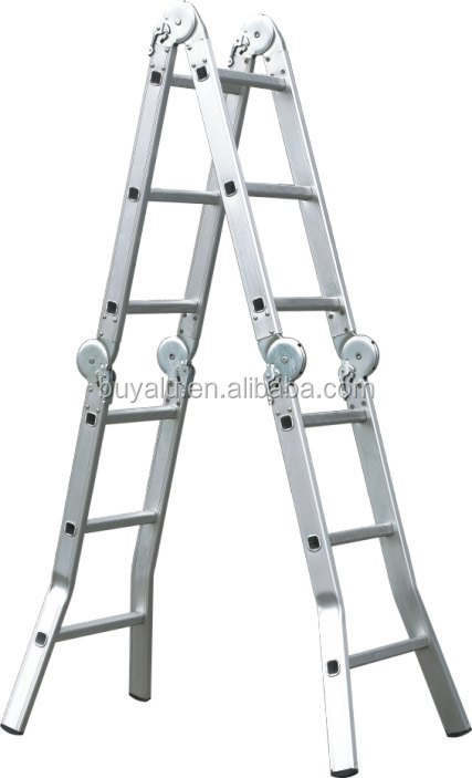 2017 Hot Sale Multi-fonction aluminium ladder in clear anodized