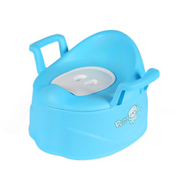 New Product Plastic Blue Baby Training Potty Chair With Arms