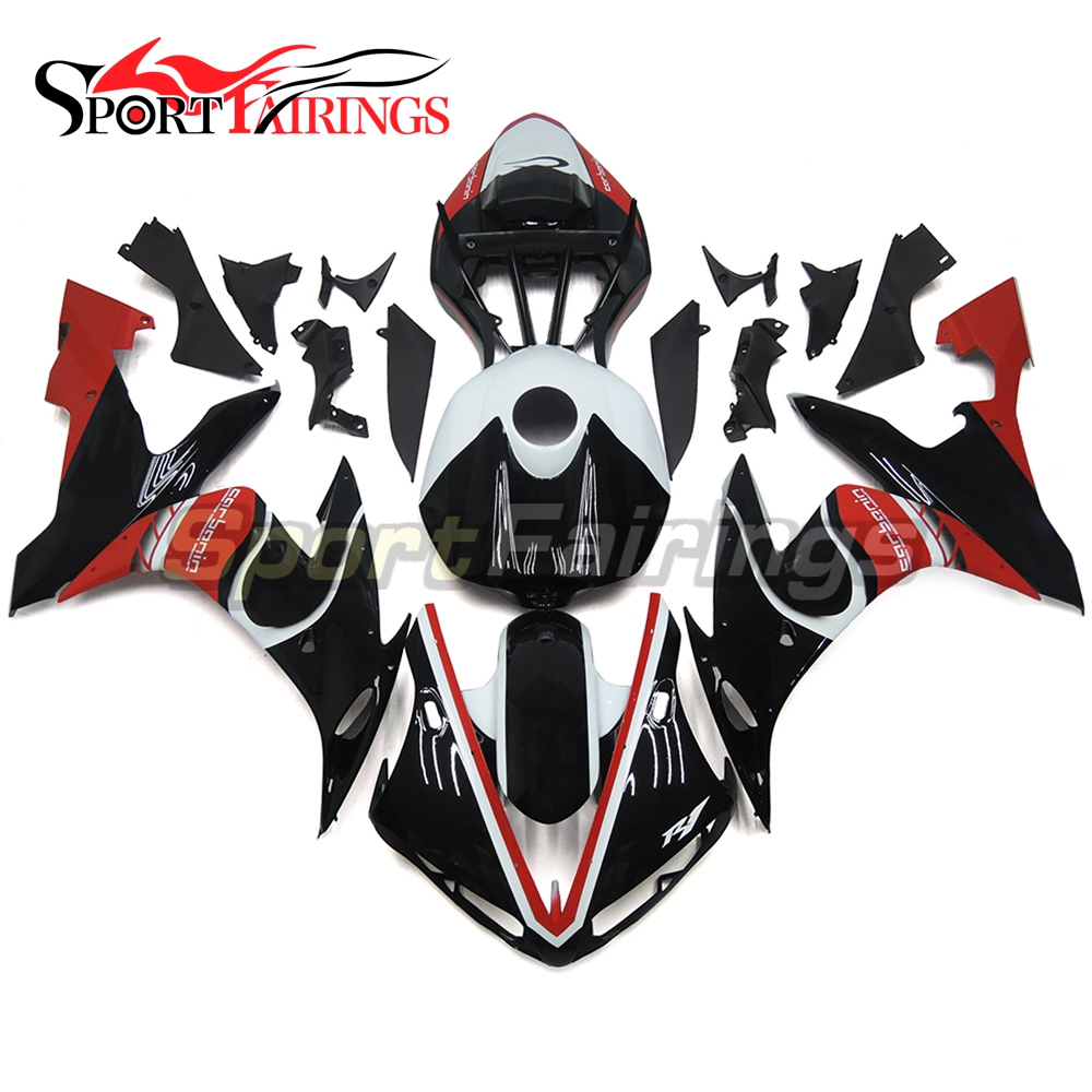 Plastic Full Fairings For Yamaha YZF <strong>R1</strong> 04 05 06 ABS Injection Motorcycle Fairing Kit Body Kits Gloss Black Red Covers