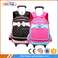top quality unique design funny cheap children school backpack with wheels