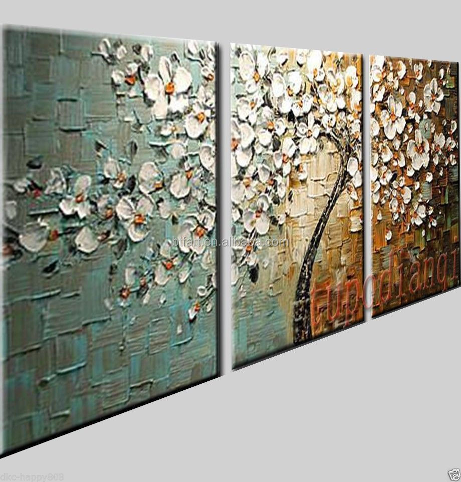 handmade decorative triptych modern oil painting Stretched Canvas Painting