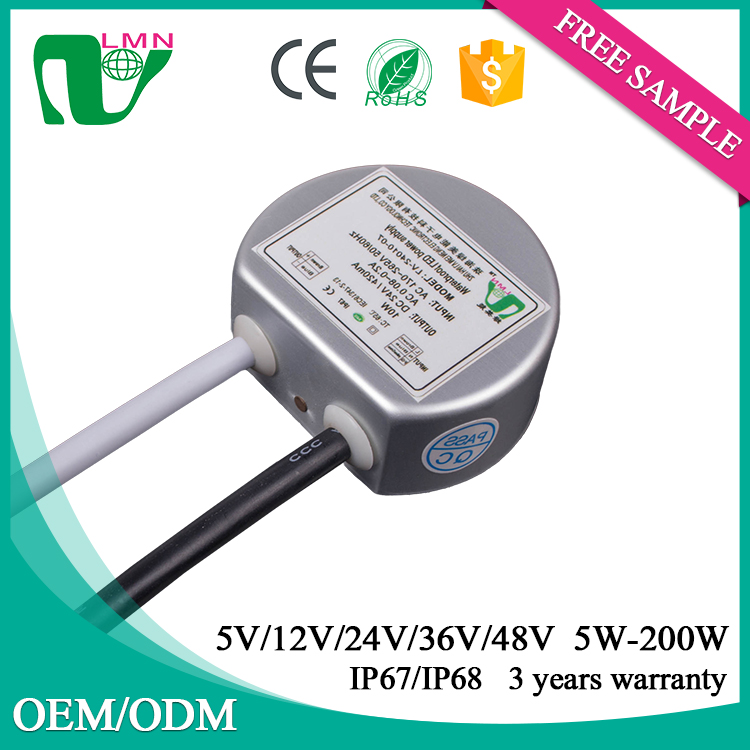 10W 0.42A round type low current led driver