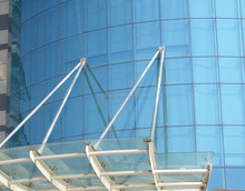 Point supported system tempered glass curtain wall