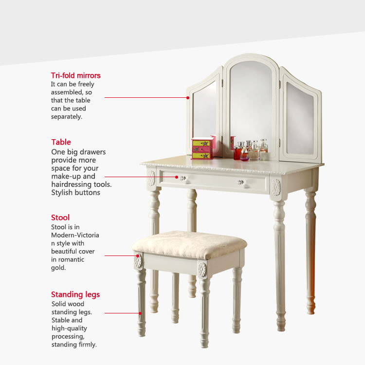 french/european/korean/dressing table