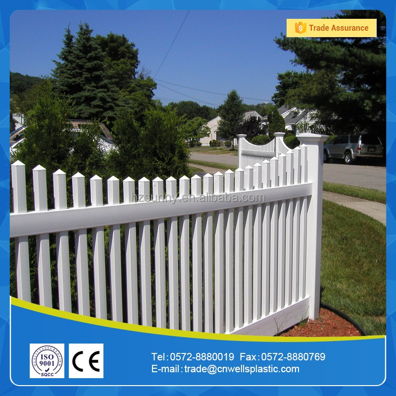 Pvc picket fencing for garden use strong uv resistance