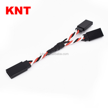 KNT RC Servo Lead Y Twisted Extension For RC Car 20cm-90cm