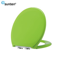 Urea Material European Soft Close Green Color Toilet Seat Covers Scale