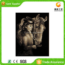 Short lead time factory offer interior decoration embroidery painting inset 3d diamond Greece style painting