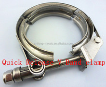 Full made of Stainless steel 304 with high anti-rust T-bolt quick release V band clamps