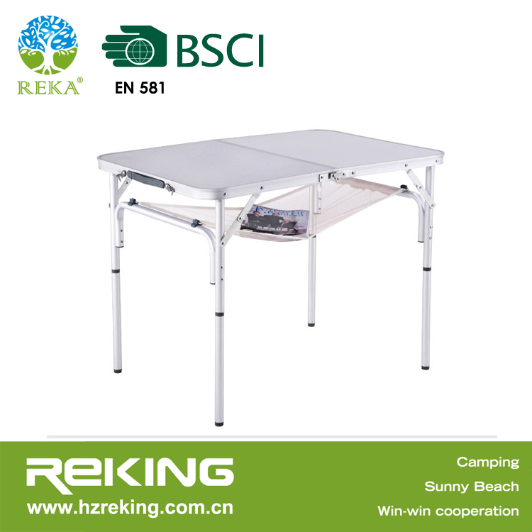 Picnic folding camping quad aluminum table desk