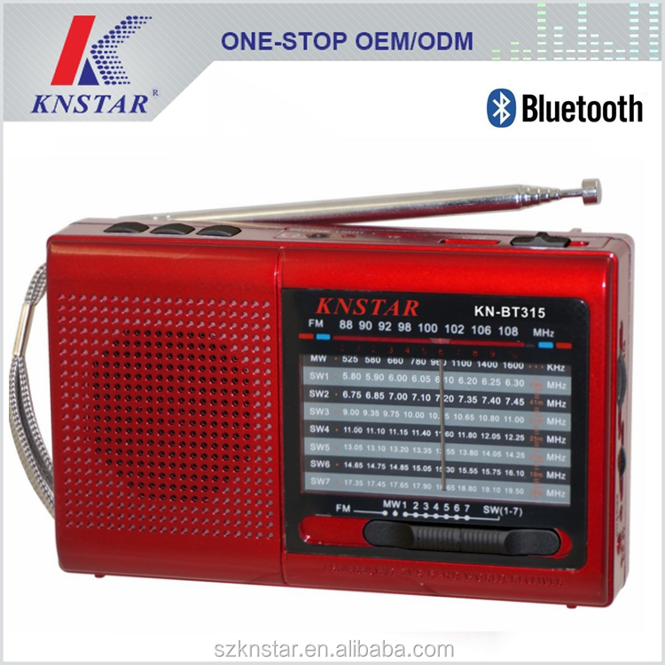 Portable bluetooth speaker /MP3 player with built-in memory SD card reader slot