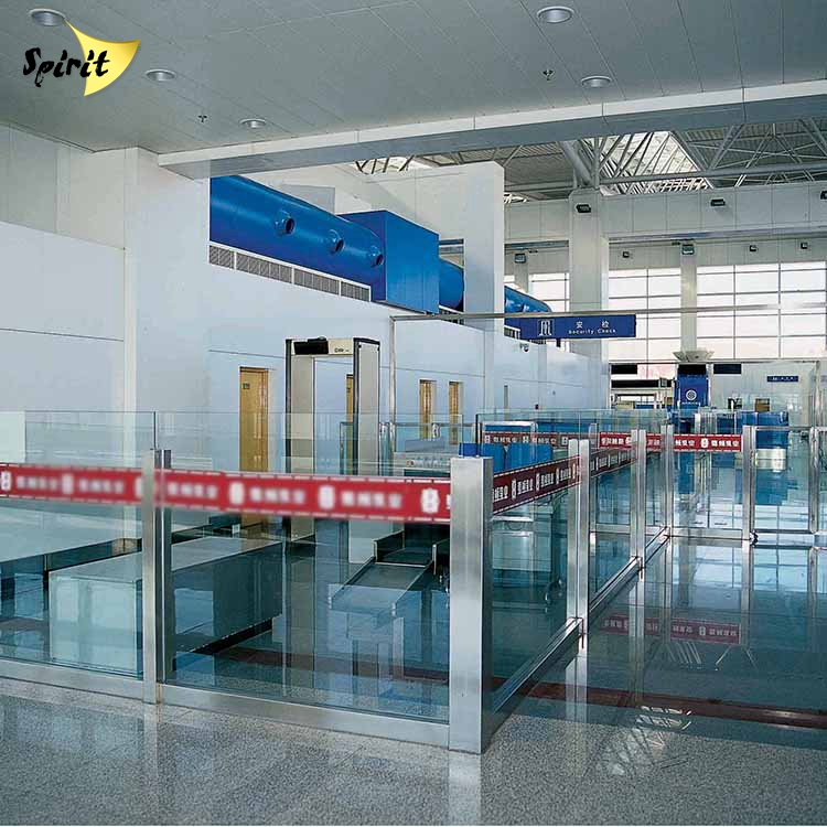 customized airport stainless steel unique frameless glass wall partition philippines