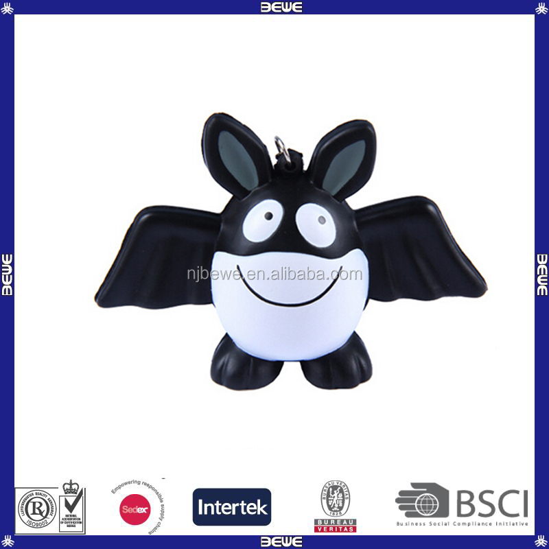 small size hot bat shape stress ball