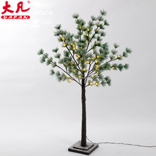 Snowy Light-up Twig Tree 120CM green Christmas warm white LED Lights Winter Snow Branch Tree Light