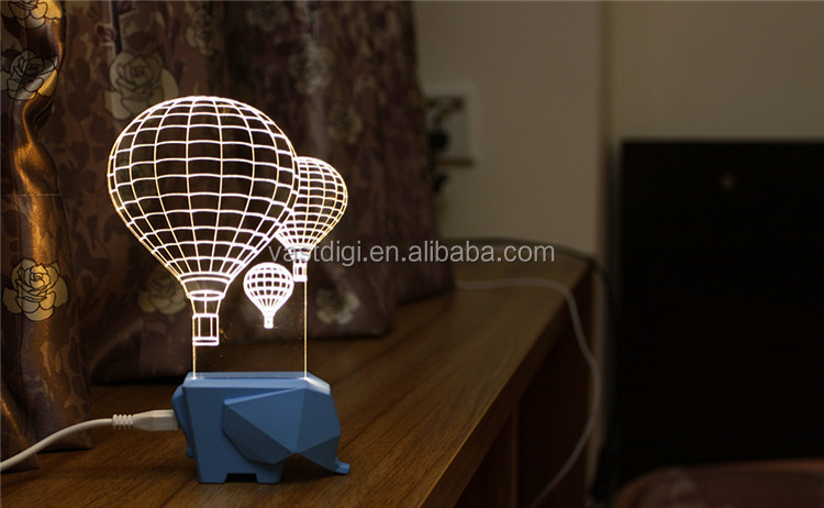 2015 Christmas promotional gifts, VLL-005 fire balloon shape battery led table lamp