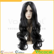 65 cm Cosplay Masquerade Party Halloween Christmas Long Wavy Hair Extensions Wig Black