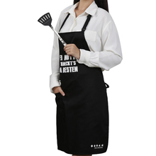poly cotton blend twill fabric 1 white color custom logo printed bib apron