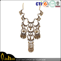 New Style Indian Statement Necklace Fashion Full Moon and Hook Indian Statement Necklace