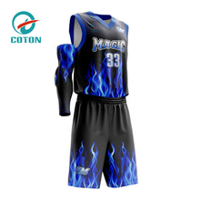 latest black red logo sample for men camouflage color blue reversible college custom sublimated design basketball uniforms