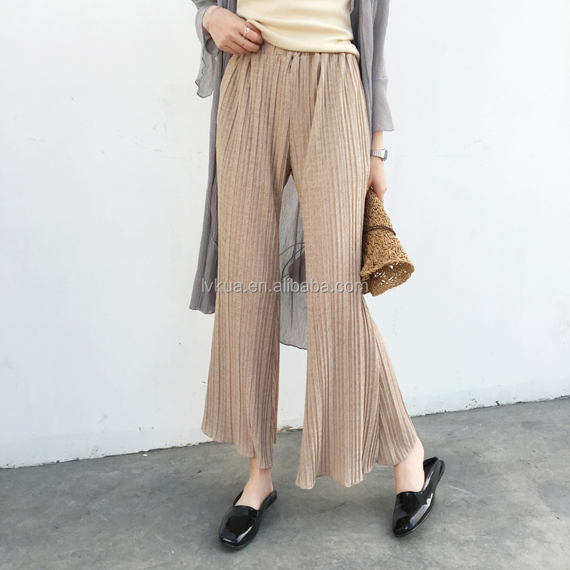 2017 Wholesale Cheap Popular 2 Colors Women Summer Loose Pants Trousers