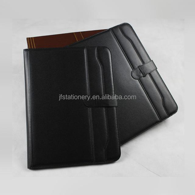 office stationery leather executive wholesale business paper portfolio organizer a4 size file folder