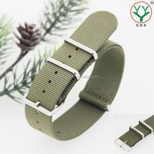 Olivegreen Color Sport Army Watch band 20mm 22mm 24mm Nylon Watch Strap