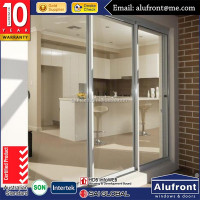 Australia standard modern new design tempered glass waterproof sliding doors