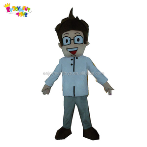 Best quality human cartoon handsome man mascot costume for adults EM-241