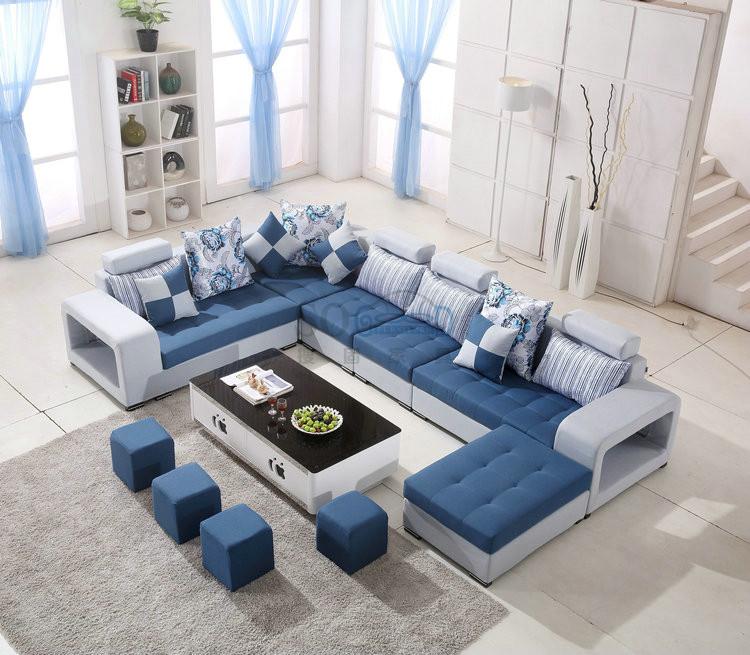 Modern Living Room U Shape Fabric Sofa Furniture