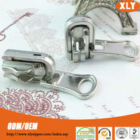 custom high quality metal key locking reversible zipper slider