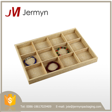 Good quality wholesale custom wood leather jewelry trays made in China