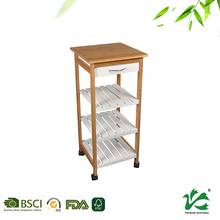 High quality healthy kitchen hot food serving trolley with drawer