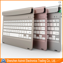 Ultra-Thin Folding ABS plastic Blue tooth keyboard with movable support slot design for iPad Air 2