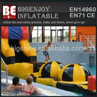 Ball inflatable water obstacle course games