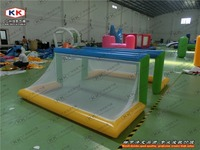 Hot sales 0.9mm Inflatable Water Pool Goal , Inflatable Football Door