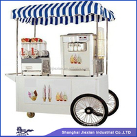 Cool Summer Mobile Soft Icecream Cart wih ice cream machine JX-IC160 icecream push cart