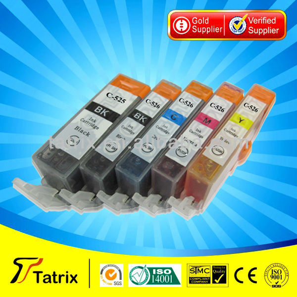 PGI-525 Black ink cartridge for Canon PGI-525 Black ink cartridge used in for Canon PIXMA MG 5150 5250 5350 6150 6250