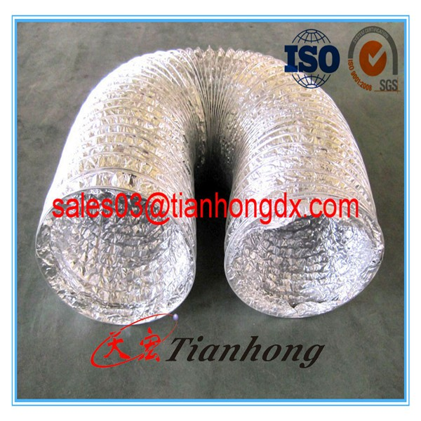 high quality flexible air duct mylar foil made of China Alu pass SGS test used for air conditioning parts