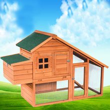 Large China Fir Wood Chicken Coop with Two run house Outdoor Rabbit Cage