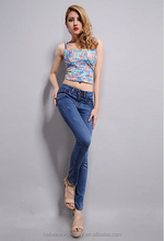 2014 Women Sexy Trousers Show Thin Baffi Washing High Elastic Force Cotton Bodycon Fit Jeans Pants