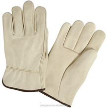 Premium work hand protection bus driving leather gloves for sale
