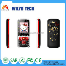 WN12C Small Cute Mobile Phone 1.8 Dual Sim Hello Kitty Cell Phone
