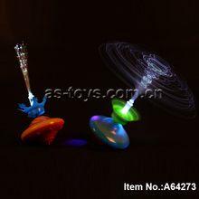 colorful toy top plastic mini spinning light toy with music