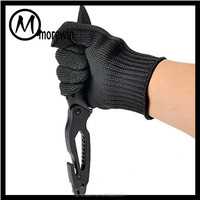 Morewin Amazon supplier wholesale stainless steel wire mesh level 5 cut resistant gloves safety protection gloves