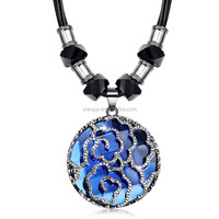 2015 New Arrival Fashion All-Suit Rose Korean Pendant Necklaces Sweater Chain 344
