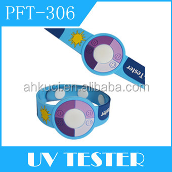 2016 Hot Selling Rubber Colour Changing Detector Watch Uv Tester Wristband For Child