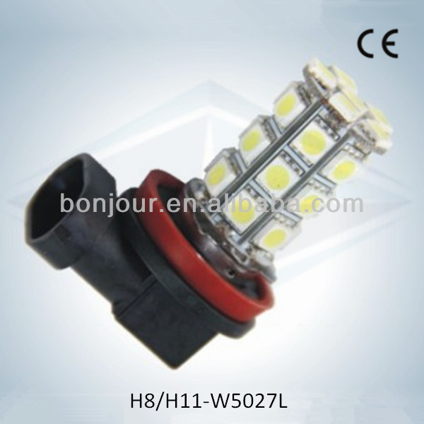 27pcs 5050smd h8 h4 h7 led h11 strobe fog light car led fog light