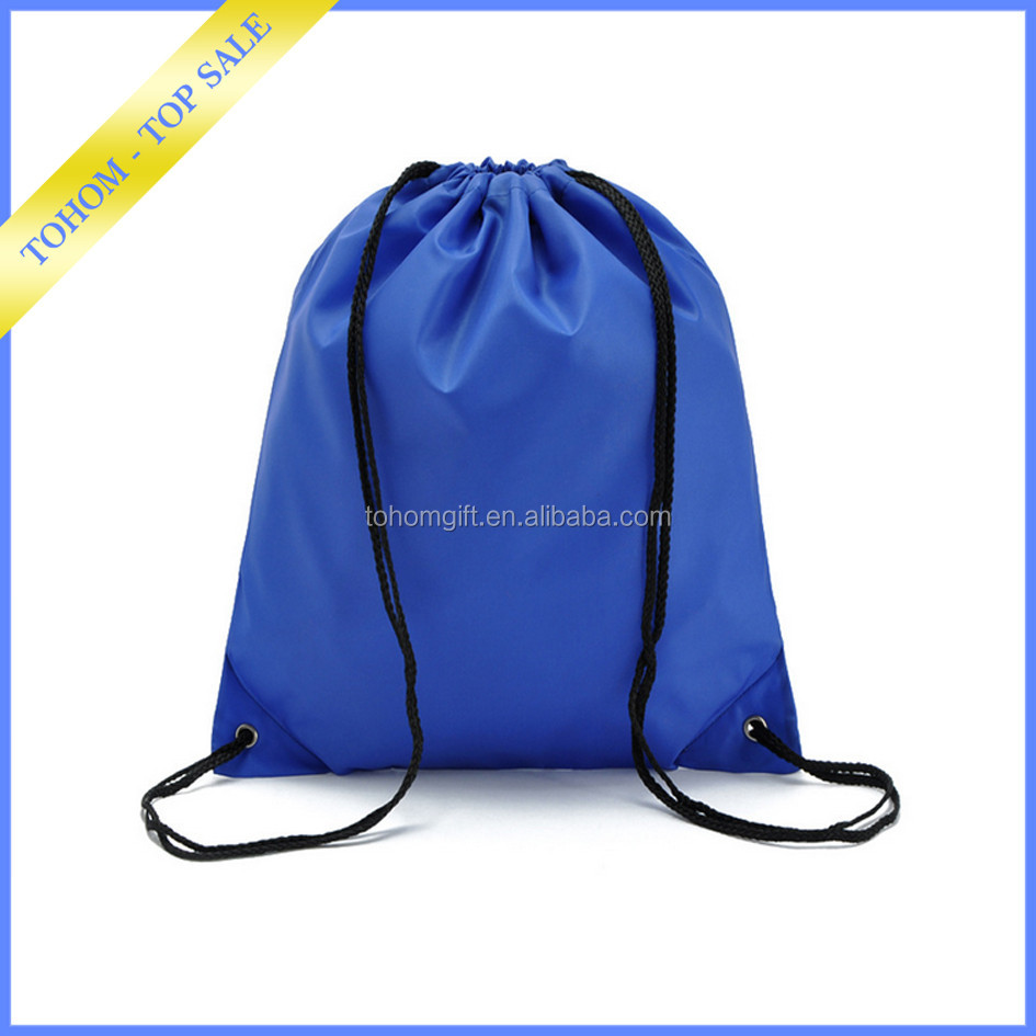 Factory wholesale custom logo polyester Printed drawstring bag backpack